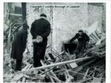 The aftermath of a bombing raid in Lambeth WWII