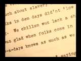 Born into Slavery -The Slave Narratives